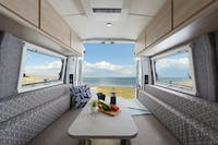 Let's Go Escape Campervan living and dining interior
