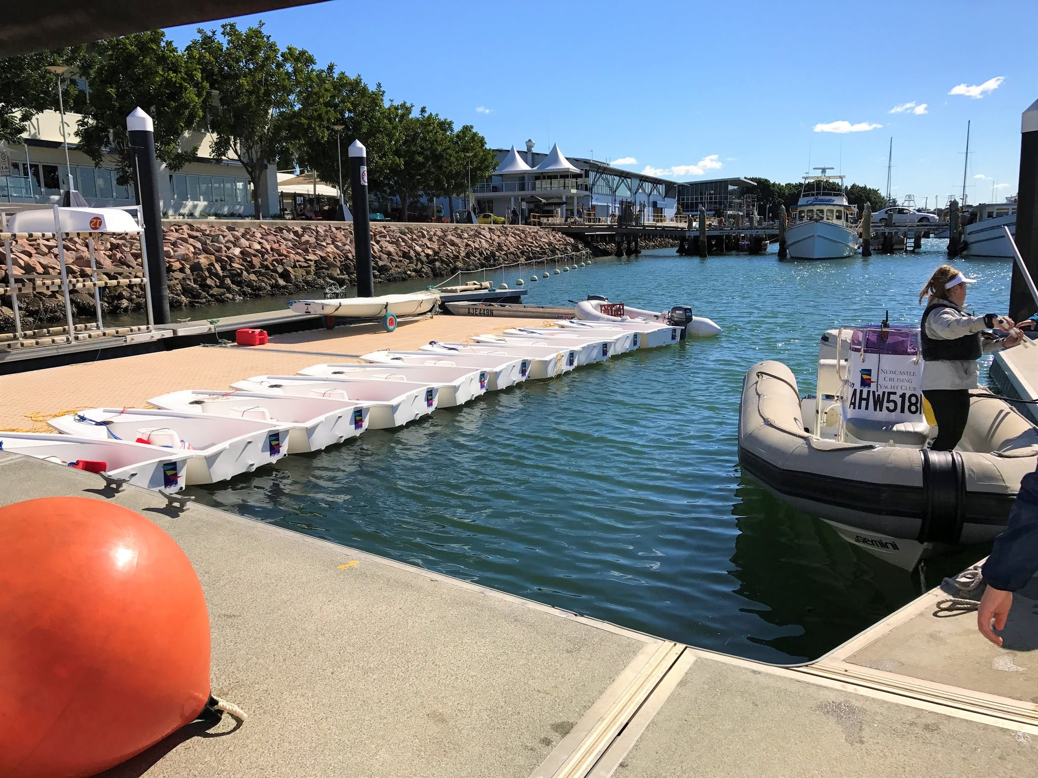 Dinghies all ready awaiting the kids!