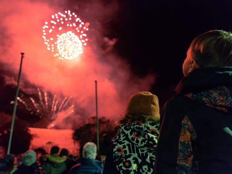 Watch the fireworks in Thredbo