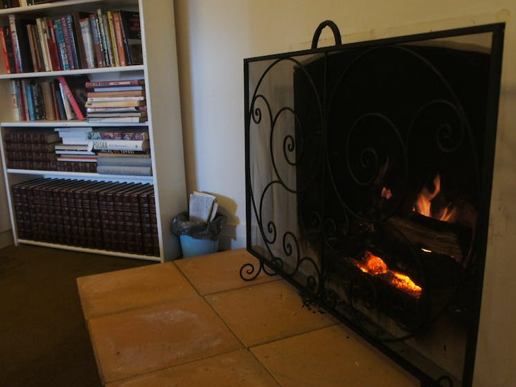 Fireplace in lounge room