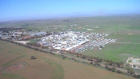 Aerial view of Field Days Site