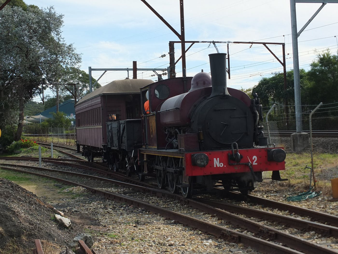 Open day with rides on heritage steam train