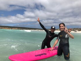 Learning to surf on the Eyre Peninsula