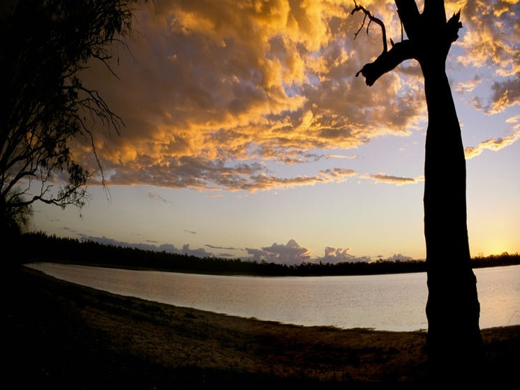 Sunset at Yarrie Lake