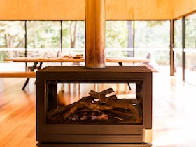 Double-sided wood fire - why not?