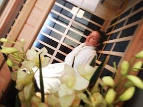 Relaxing dry sauna