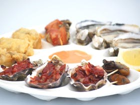 Oyster tasting plate
