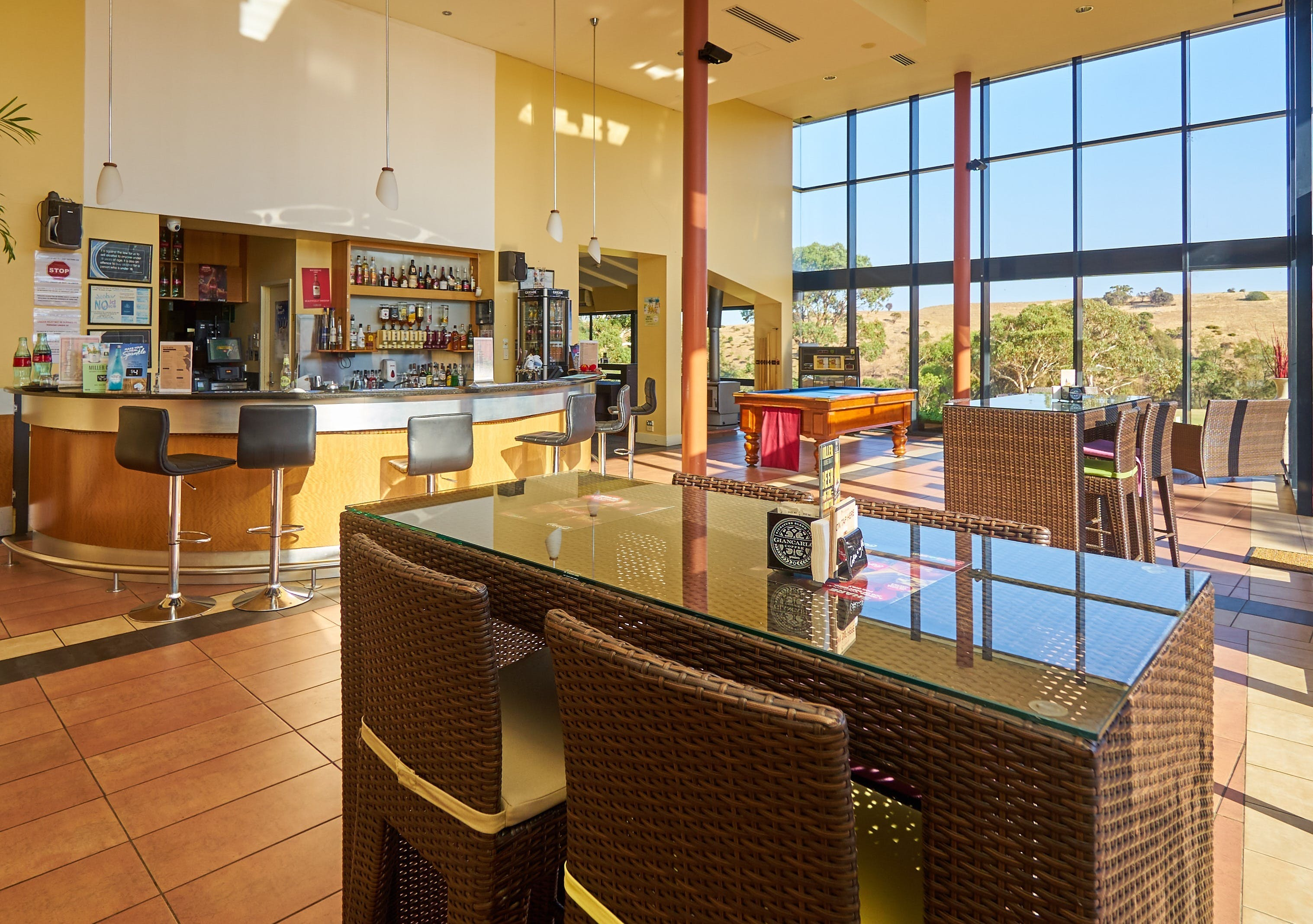 Enjoy a drink at our Boags Bar while enjoying the scenery