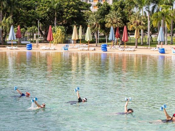 Aqua fitness in the Wave Lagoon