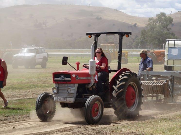 Ladies Tractor Pull