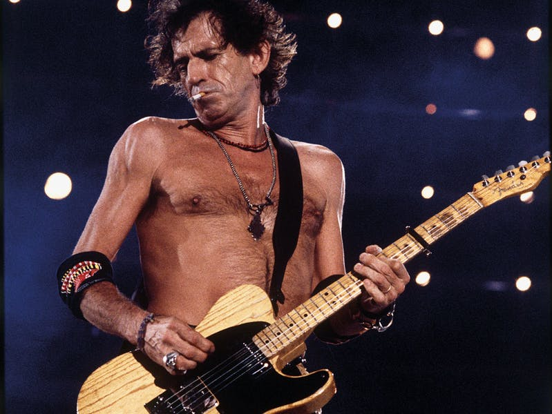 Keith Richards, The Rolling Stones, 1995, digital print