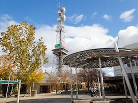 Shepparton Tower from Maude Street Mall