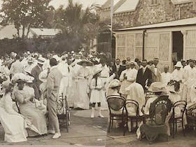 1912 - Garden party for federal parliamentary visit