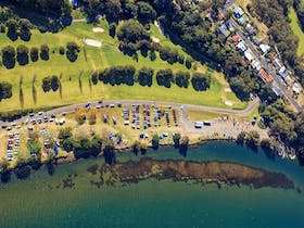 Aerial, river, golf course, boat ramp, launch, shoalhaven river, nowra