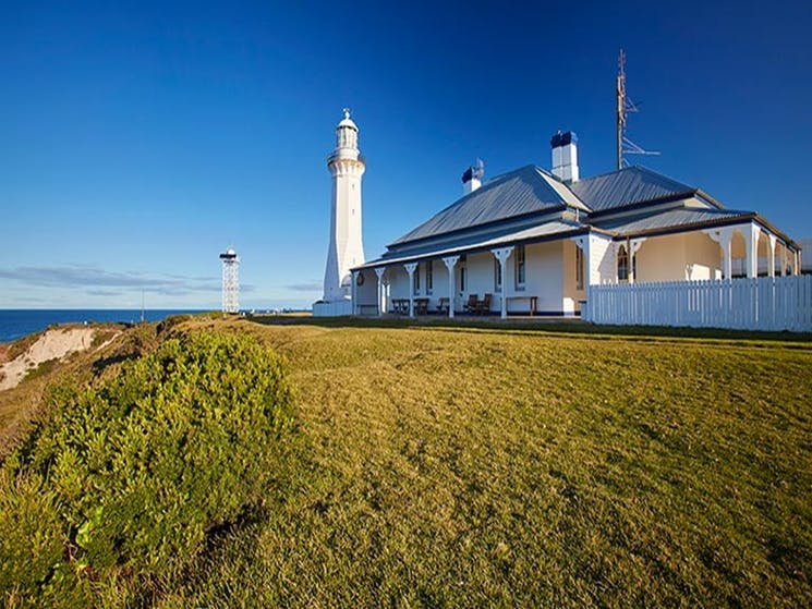 Exterior view of Green Cape Lightstation Keeper's Cottage in Ben Boyd National Park. Photo: N Cubbin