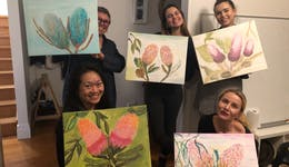 Image of the event 'Twist, Sip and Paint Workshop'